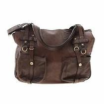 Theory Women Brown Leather Messenger One Size Photo