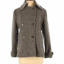Theory Women Gray Wool Coat M Photo