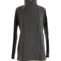 Theory Women Gray Wool Coat P Photo