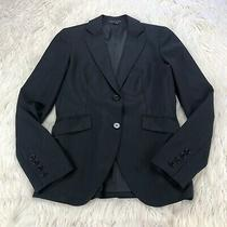 Theory Women's 4 Black Classic Double Button Front Blazer Wool Photo
