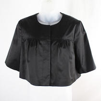 Theory Women's Black Cropped Hidden Button Down Blazer Jacket Sz M Photo