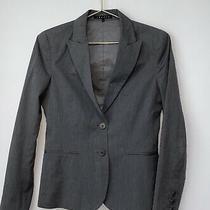 Theory Women's Blazer Jacket Gray Career Work Blazer Womens Size 4  Photo