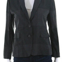 Theory Women's Collared Two Button Blazer Wool Gray Size 4 Photo