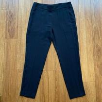 Theory Women's Dress Career Pants Blue Pockets High Waist Flat Front 6 Photo