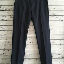 Theory Womens Dress Pants Blue 100% Virgin Wool Striped Size 28 Photo