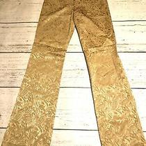 Theory Women's Dress Pants Trousers Pants Size 2 Nyc Stretch Nwt Gold Paisley Photo