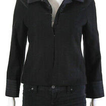 Theory Women's Hook Closure Collared Jacket Wool Black Size 2 Photo