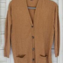 Theory Womens Long Cardigan Sweater Cashmere Sweater Brown Tan Size M Braewyn Photo