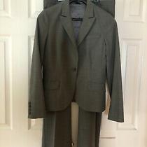 Theory Women's Pants Suit Size 10 Blazer Size 10 Pants Color Grey Wool Blend Photo