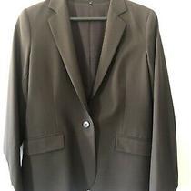 Theory Women's Single Button Dark Brown Blazer Size 10 Photo