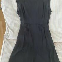 Theory Women's Sleeveless Silk Dress With Pleated Detail  at Waist - Size 8 Photo