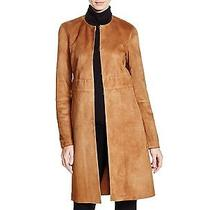 Theory Womens Alvington Benna Brown Suede Coat Nwt 1555 Large Photo