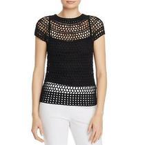 Theory Womens Black Crochet Crew Neck Tee Pullover Top Shirt L Bhfo 8880 Photo