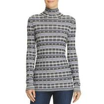 Theory Womens Black Plaid Fitted Office Turtleneck Top Shirt M Bhfo 5906 Photo