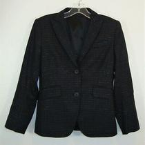 Theory Womens Black Wool Blend 2-Button Lined Blazer Suit Jacket Size 0 Photo