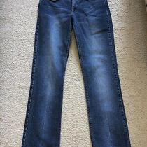 Theory Womens Blue Denim Low Rise Jeans Pants 4  Photo