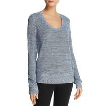 Theory Womens Blue Lightweight Scoop Neck Pullover Sweater Top L Bhfo 2173 Photo