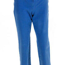 Theory Womens Cotton Tailored Trousers Pants Blue Size 8 11668901 Photo