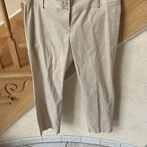 Theory Womens Emery Tan Pants - Size  12  New Trousers Beige Photo