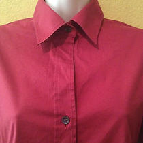 Theory Womens Long Sleeve Red  Dress Shirt - Size P Photo