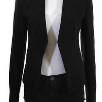 Theory Womens Long Sleeve Solid Print Open Front Blazer Jacket Black Size 0 Photo