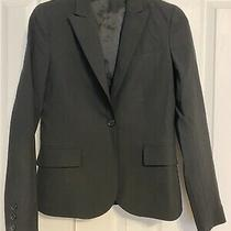 Theory Womens Long Sleeve v Neck Single Button Blazer Jacket Black Size 0 Photo