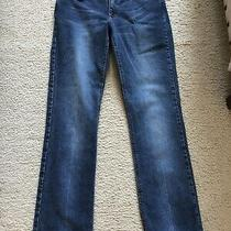 Theory Womens Low Rise Blue Denim Jeans Pants 4  Photo