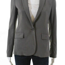 Theory Womens Notched Collar One Button Blazer Green Size 2 Photo