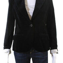 Theory  Womens One Button Velvet Blazer Black Size 8 Photo