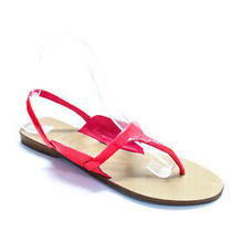 Theory  Womens Patent Leather Thong Sandals Pink Size 38 8 Photo