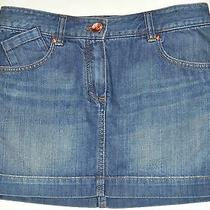 Theory Womens Perline Bruges 100% Cotton Jean Denim Mini Skirt Sz 0 Adorable Euc Photo