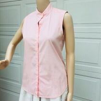 Theory Womens  S Small Pink Stretch Cotton Sleeveless Tunic Top Shirt Blouse  Photo
