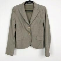Theory Womens Size 6 Wool Blend Two Button Blazer Jacket Brown Career Work  Photo
