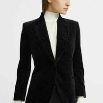 Theory Womens Womens One Button Velvet Cinched Blazer Black Size 4 ret.585 Photo