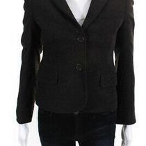 Theory Womens Wool Blazer Dark Brown Size 0 Photo