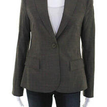 Theory Womens Wool Long Sleeve One Button Blazer Gray Size 6 Photo