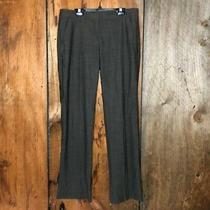 Theory Womens Wool Relaxed Straight Pants Brown Sz 6 Euc Photo