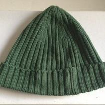 Theory Womens Wool Ribbed Hat in Moss Green Photo