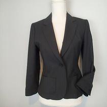 Theory Wool Bl  Blazer Black Kayle Tailor Size 8 Stretch Jacket  Photo