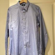 Theory Zack Ps Berridale Solid Dress Shirt Blue Size M Photo