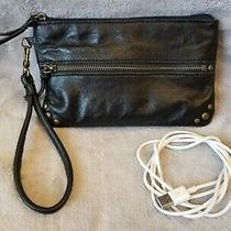 Thesak Sak Black Leather Wristlet Wallet Purse Built in Usb Phone Charger Cord Photo