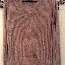 Theyskens Theory Beautiful Silk Linen Slub Sweater High End Designer Medium Euc Photo