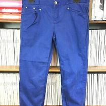 Theyskens Theory Jeans Trousers Uk 12 14 Cropped Pegged Relaxed Blue Us 8 10 Photo