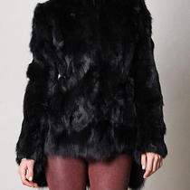 Theyskens' Theory Jengo Rabbit & Fox Fur Coat Medium Photo