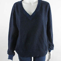 Theyskens' Theory Men's Blue v-Neck Sweater Photo
