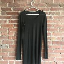 Theyskens Theory Women's Super Luxe Knit Dress Sz Small Transparent Green/black Photo