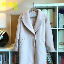 Thick Warm Blush Pink Cocoon Winter Coat Small Photo