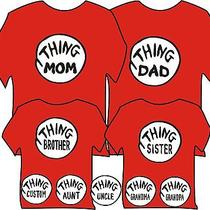 Thing Sister Adult Medium T Shirt Youth Dad Brother Sister & Thing 1 2 Dr Seuss Photo