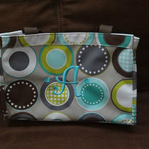 Thirty One All-in-One Organizer in Minty Chip W/ Aqua 