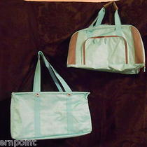 Thirty One Turquoise Crosspop Set W/ Large Utility Tote & Large Pro Duffle New Photo